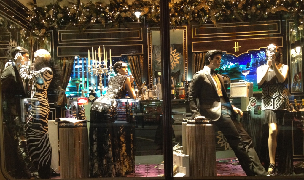 Harrods Holiday Window- Drinks with the Ex