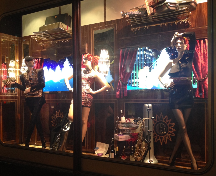 Harrods Holiday Window- The Band