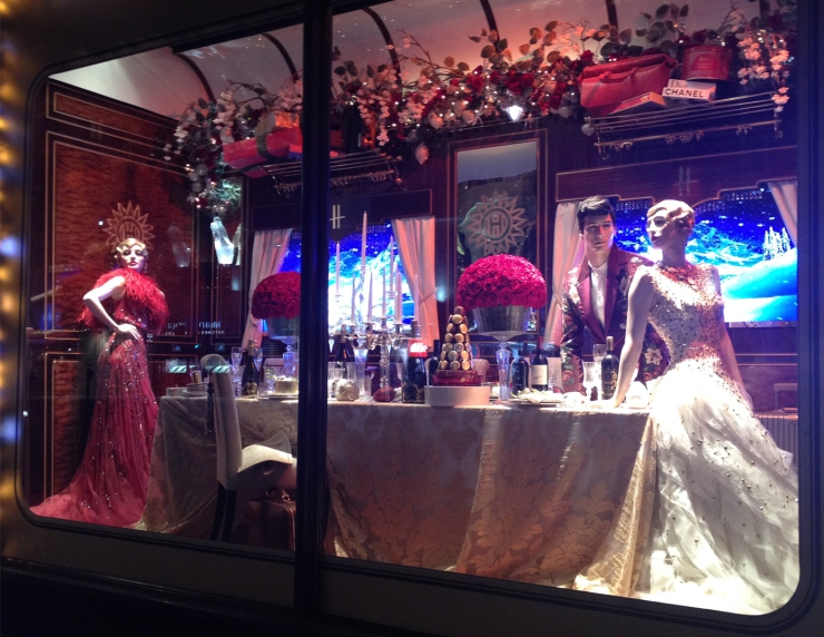 Harrods Holiday Windows- Ex-Mrs, Mr and Mrs
