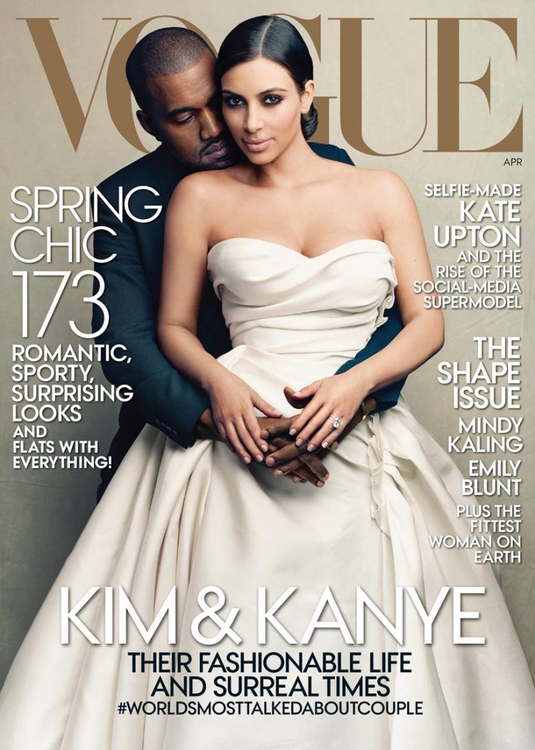 Kim and Kanye for Vogue April