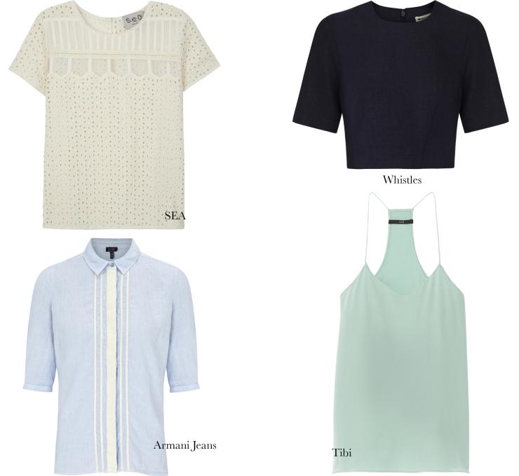 The Summer Wardrobe- Tops