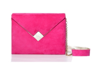Zashadu pink box clutch