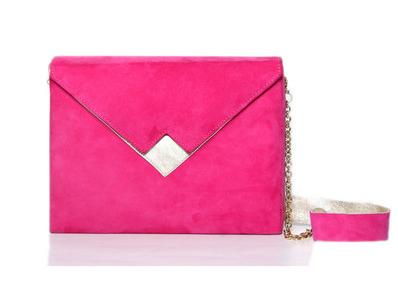 Zashadu pink box clutch