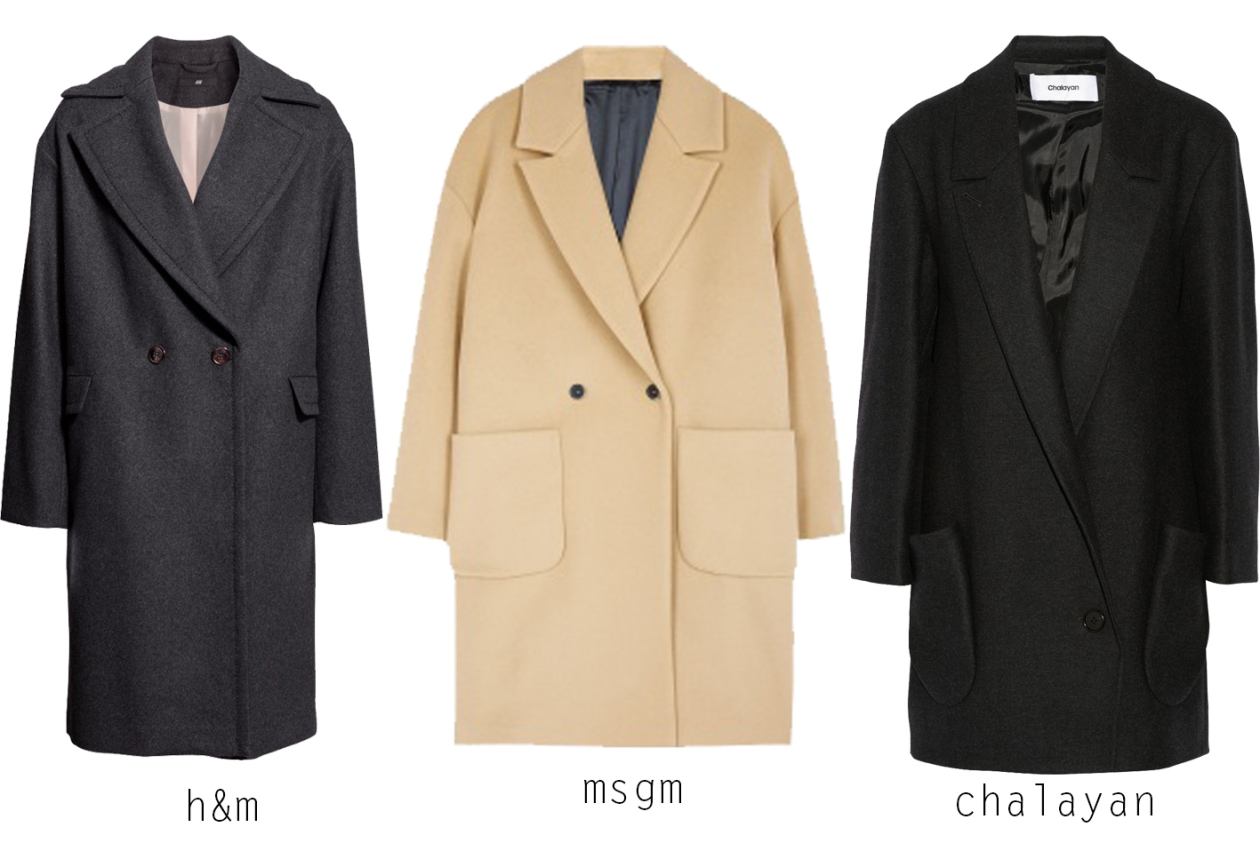 coats- collared and shapeless