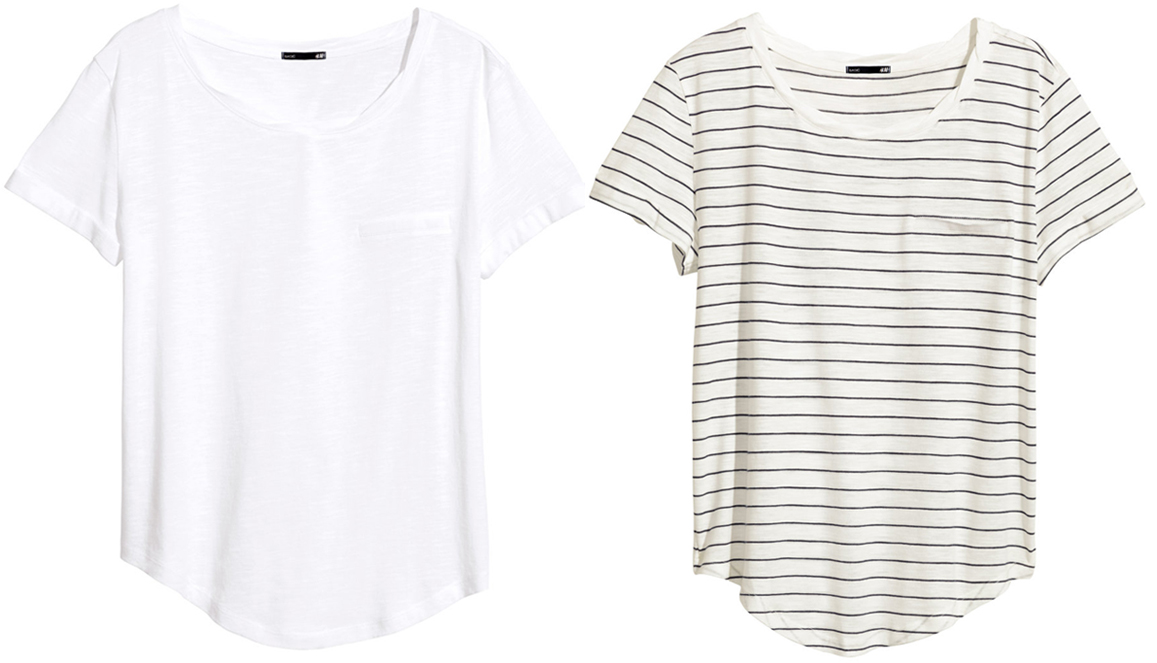 The Summer Tee- Whites and Stripes