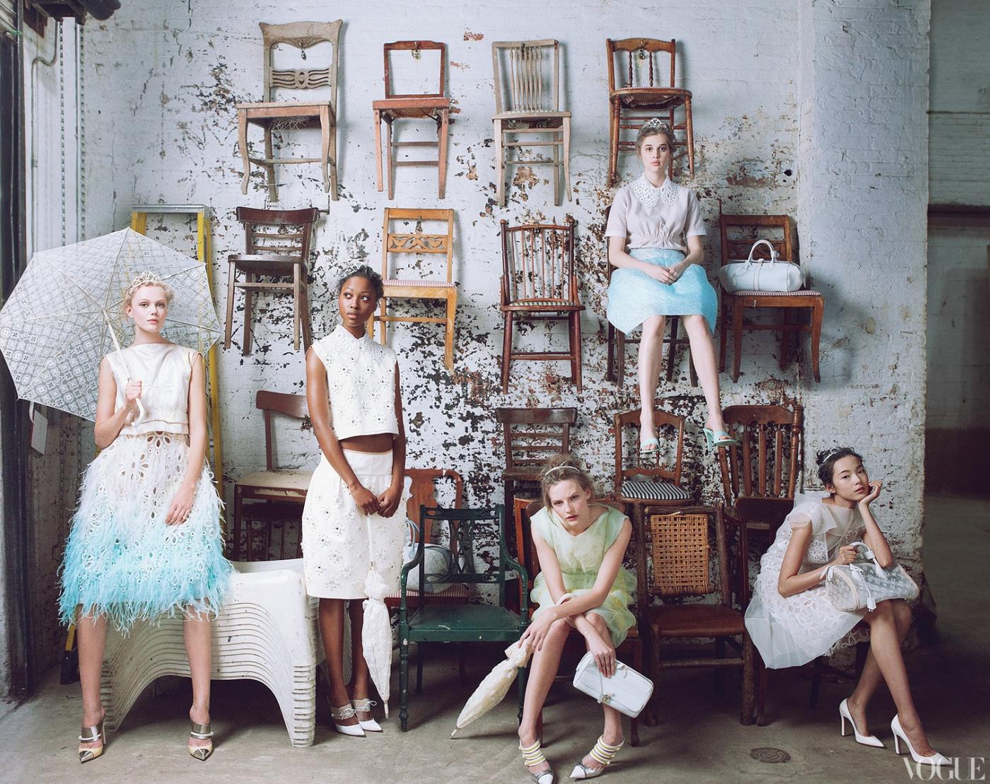 Vogue US- January 2012. Styled by Grace Coddington